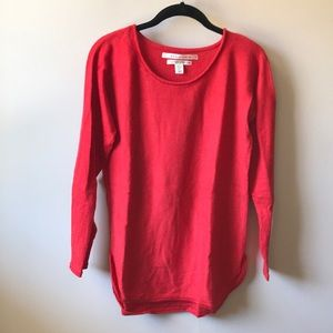 Candy apple red wool sweater